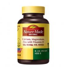 [네이처메이드] 칼슘,마그네슘,아연,비타민D 180정
